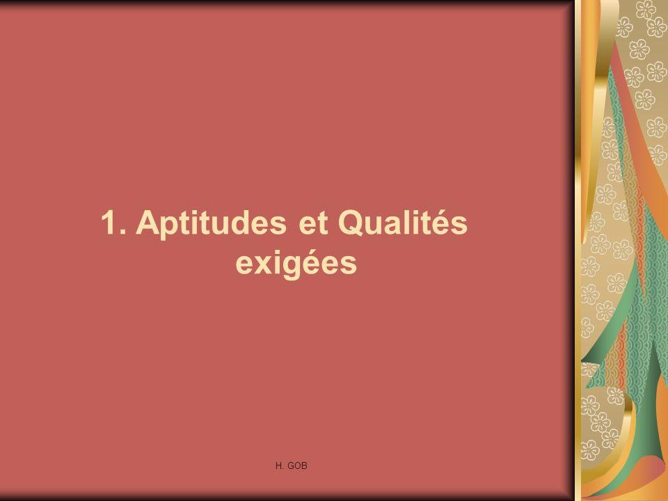 1. Aptitudes et Qualités exigées
