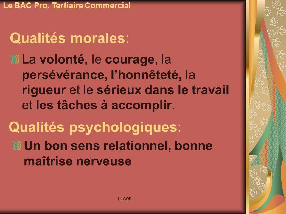 Qualités psychologiques: