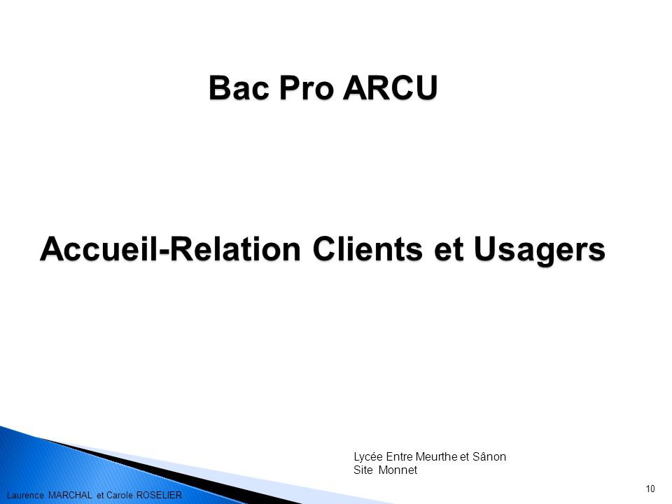 Accueil-Relation Clients et Usagers