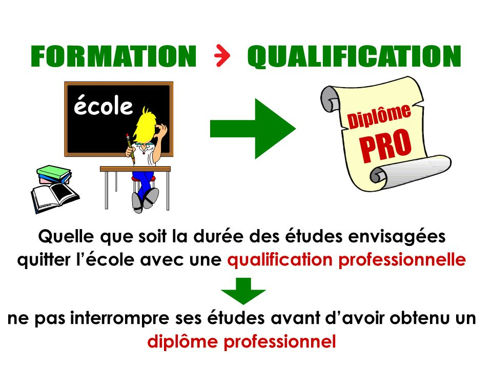 PRO Objectif : qualification professionnelle FORMATION QUALIFICATION
