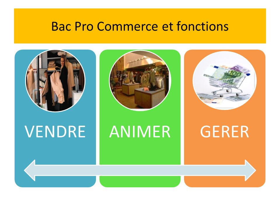 Bac Pro Commerce et fonctions
