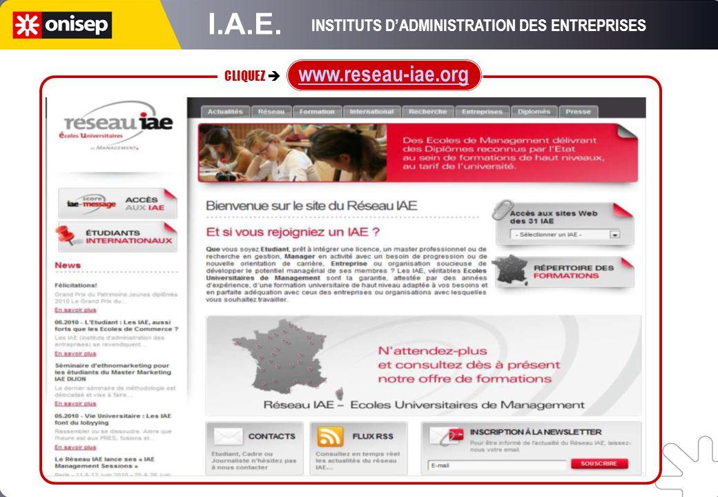 INSTITUTS D'ADMINISTRATION DES ENTREPRISES