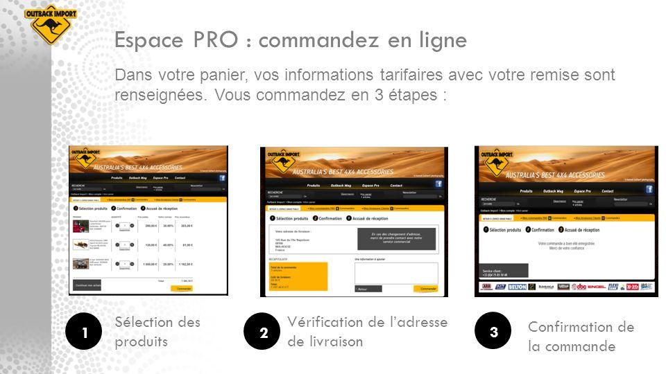Espace PRO : commandez en ligne
