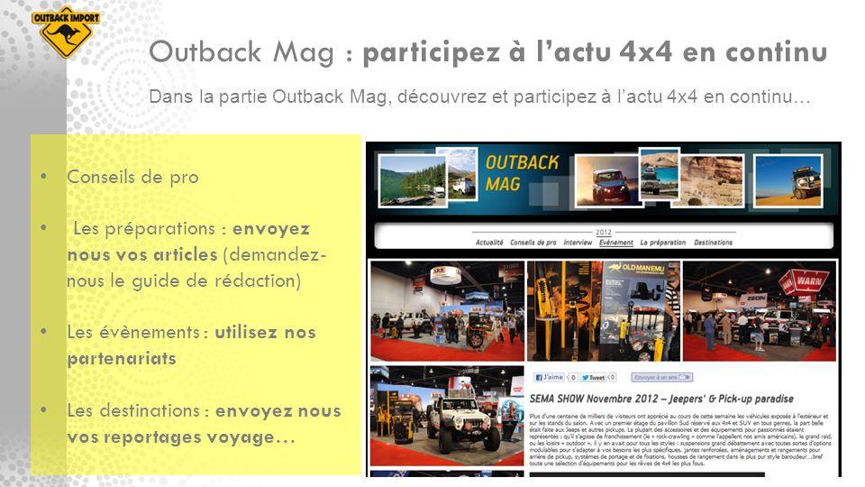 Outback Mag : participez à l'actu 4x4 en continu