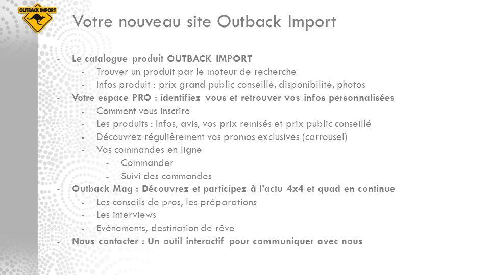 Votre nouveau site Outback Import