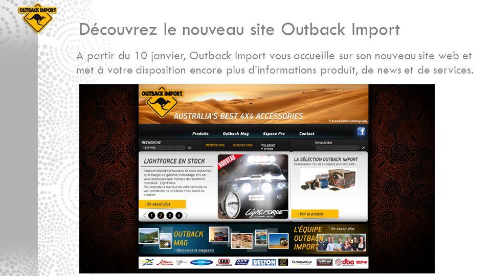 Découvrez le nouveau site Outback Import