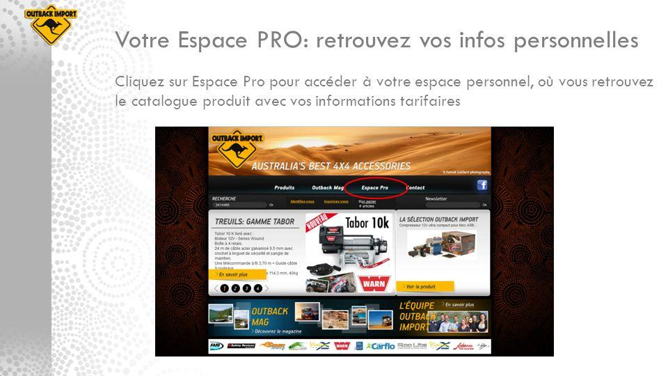 Votre Espace PRO: retrouvez vos infos personnelles