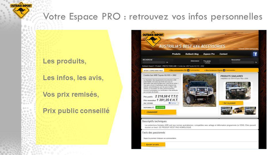 Votre Espace PRO : retrouvez vos infos personnelles