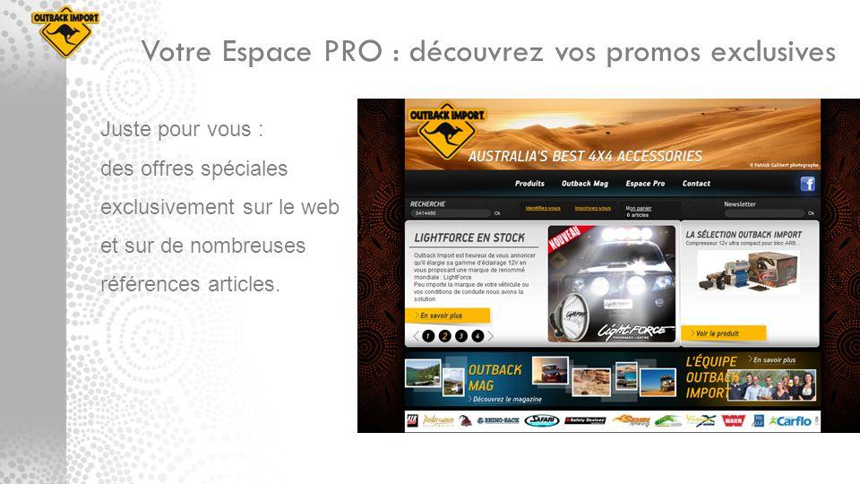 Votre Espace PRO : découvrez vos promos exclusives