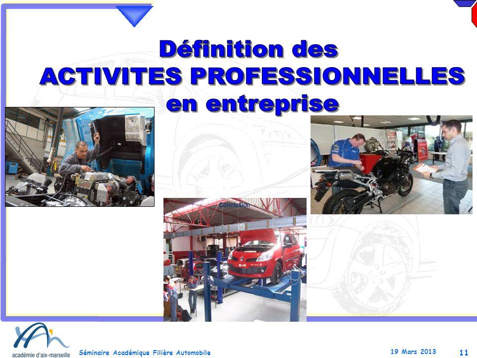 ACTIVITES PROFESSIONNELLES