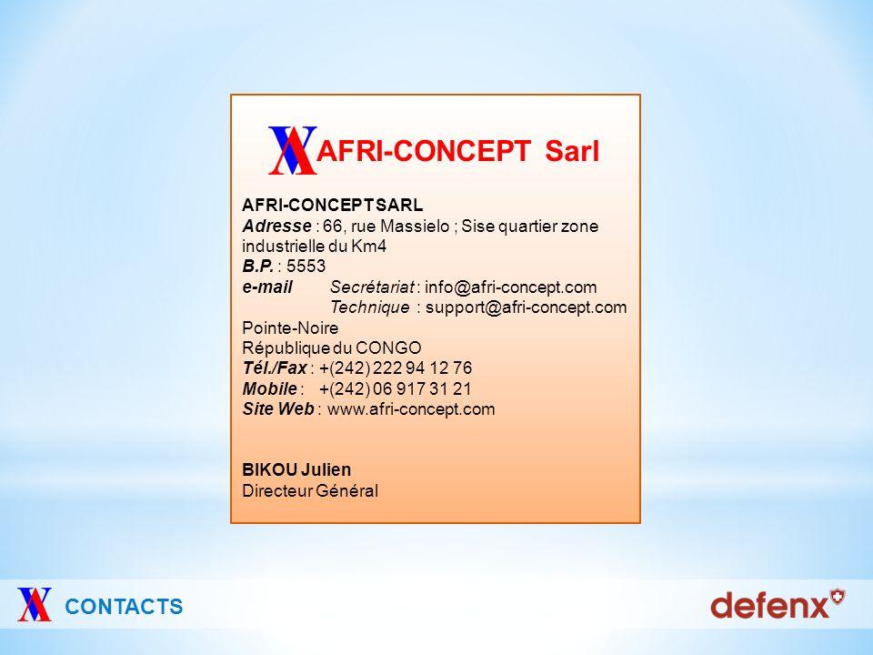 AFRI-CONCEPT Sarl CONTACTS AFRI-CONCEPT SARL
