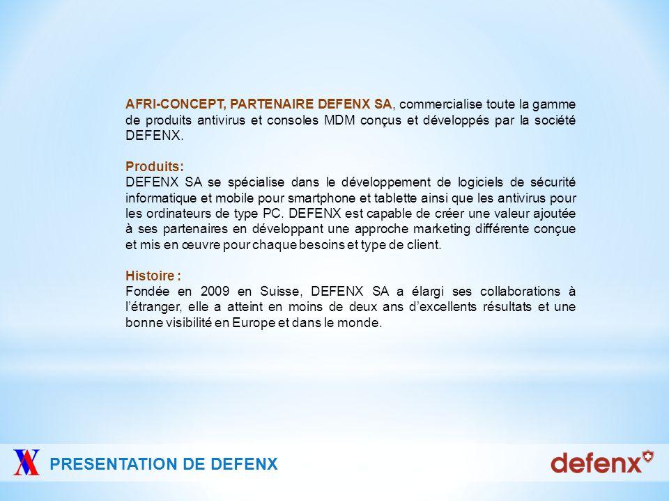 PRESENTATION DE DEFENX