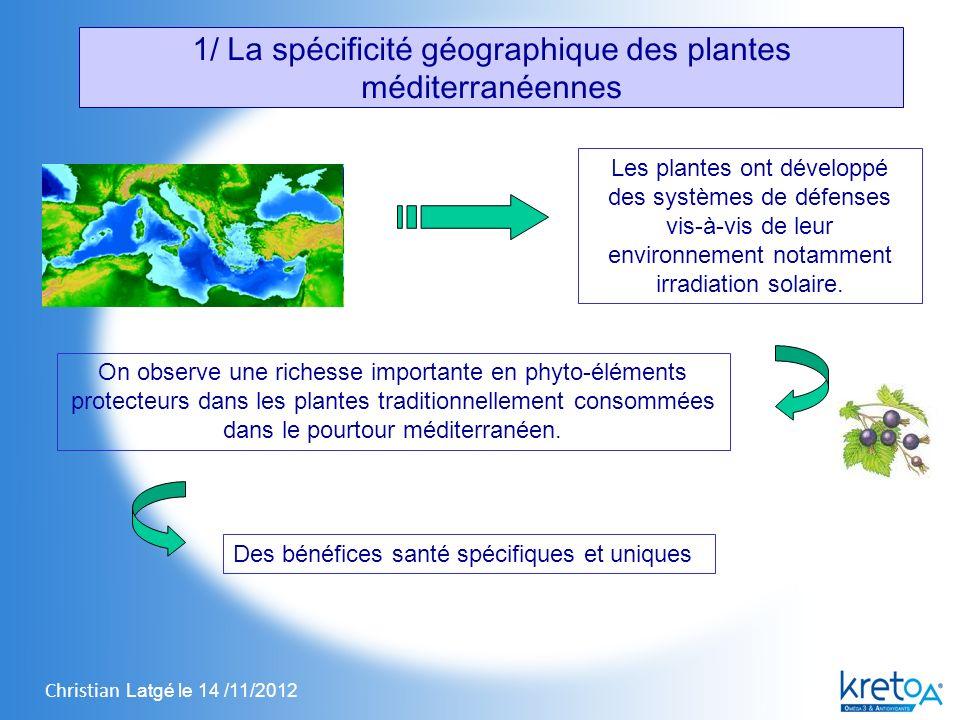 1/ La spécificité géographique des plantes méditerranéennes