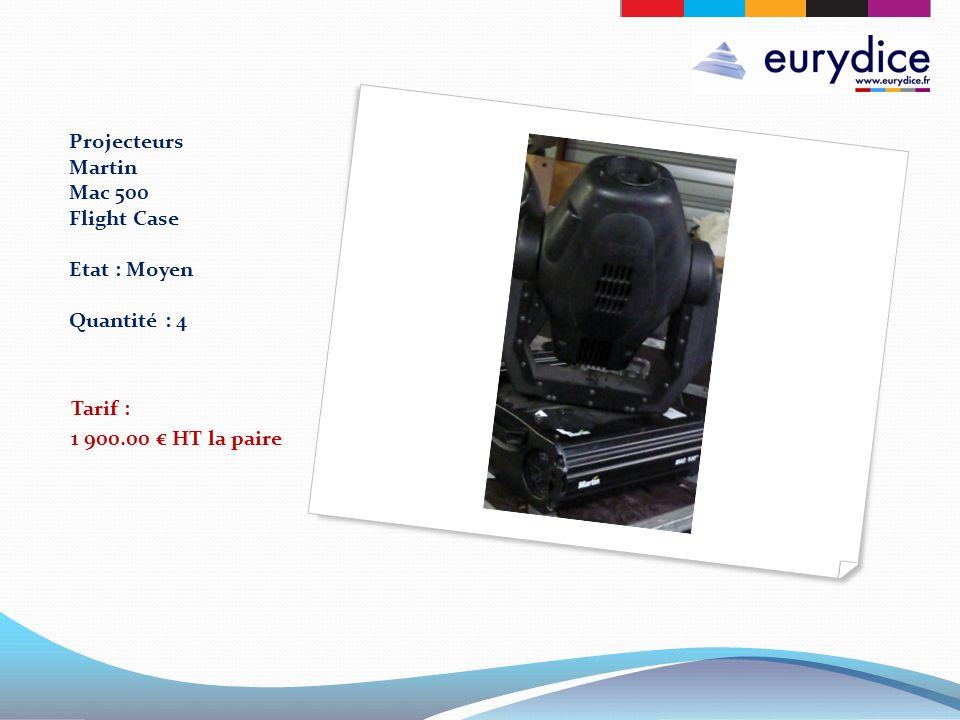 Projecteurs Martin Mac 500 Flight Case Etat : Moyen Quantité : 4