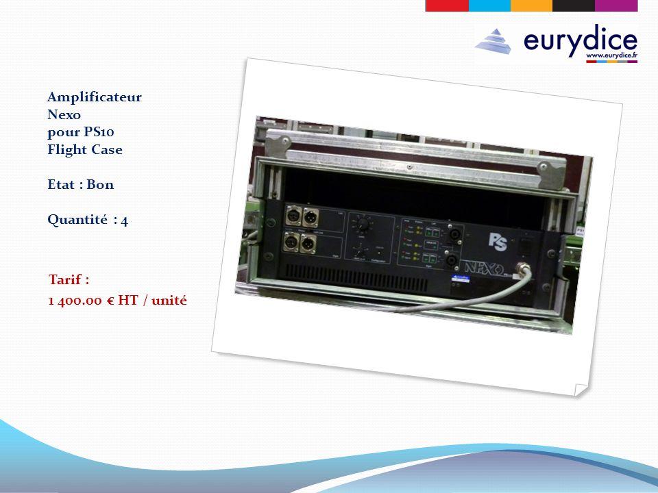 Amplificateur Nexo pour PS10 Flight Case Etat : Bon Quantité : 4