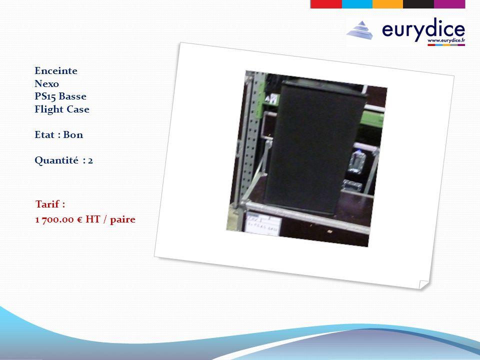 Enceinte Nexo PS15 Basse Flight Case Etat : Bon Quantité : 2