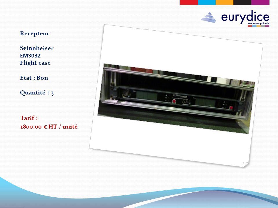 Recepteur Seinnheiser EM3032 Flight case Etat : Bon Quantité : 3