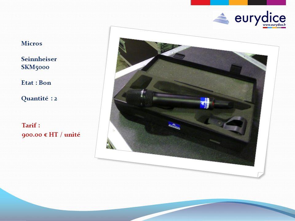 Micros Seinnheiser SKM5000 Etat : Bon Quantité : 2