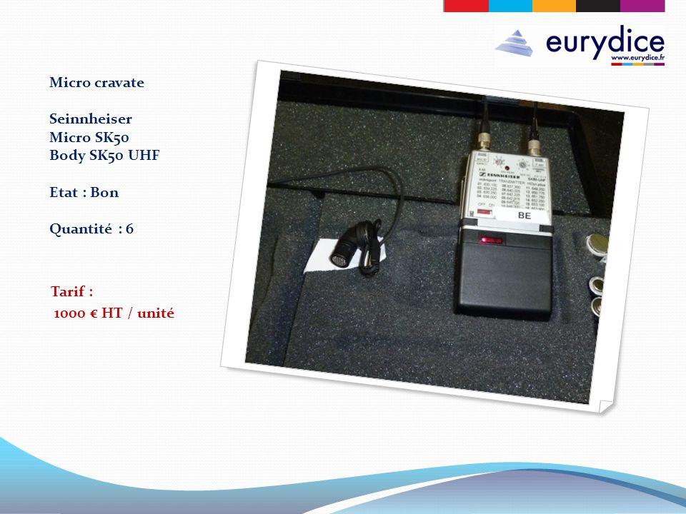 Micro cravate Seinnheiser Micro SK50 Body SK50 UHF Etat : Bon Quantité : 6