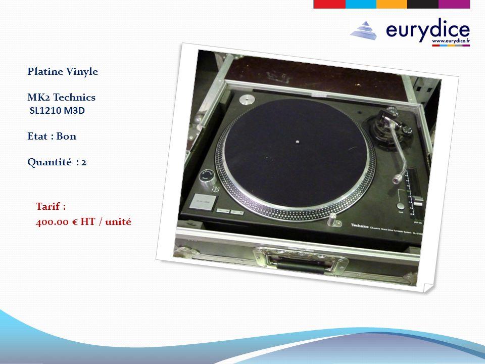 Platine Vinyle MK2 Technics SL1210 M3D Etat : Bon Quantité : 2