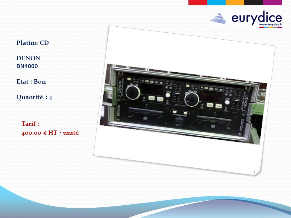 Platine CD DENON DN4000 Etat : Bon Quantité : 4