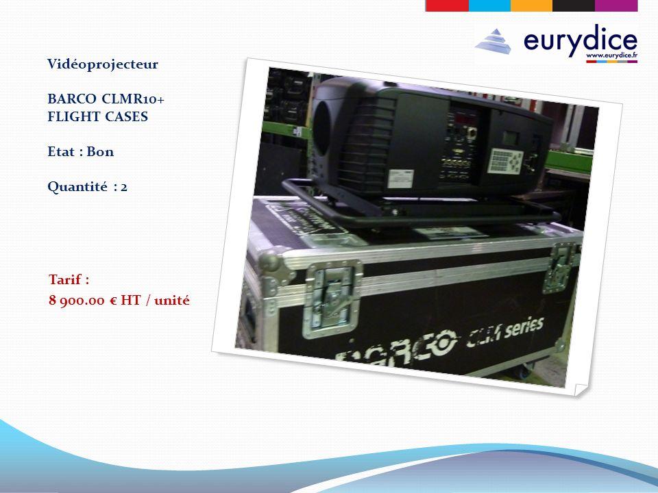 Vidéoprojecteur BARCO CLMR10+ FLIGHT CASES Etat : Bon Quantité : 2