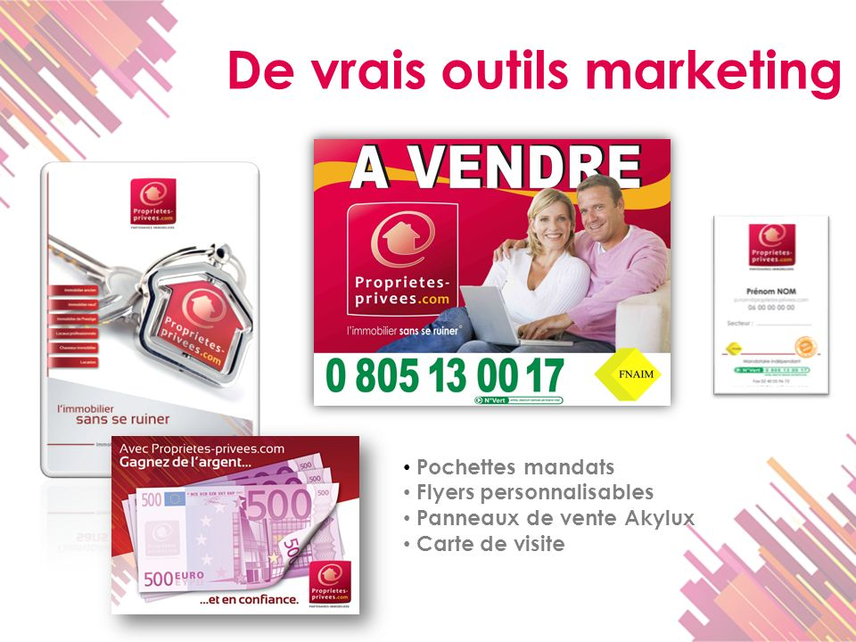 De vrais outils marketing