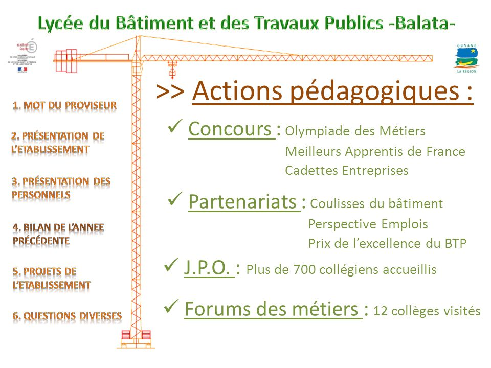 >> Actions pédagogiques :