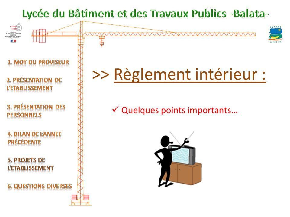 >> Règlement intérieur :