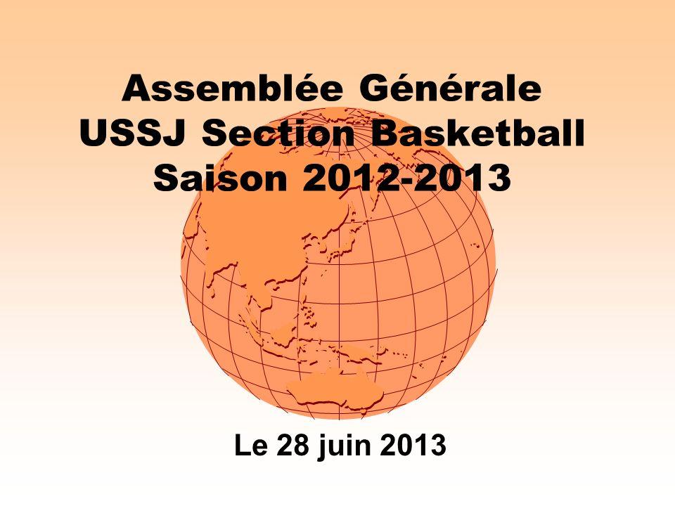 Assemblée Générale USSJ Section Basketball Saison 2012-2013