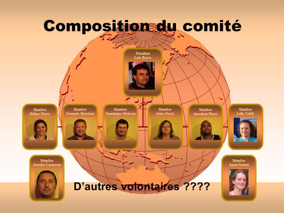 Composition du comité D'autres volontaires Président Luis Bravo