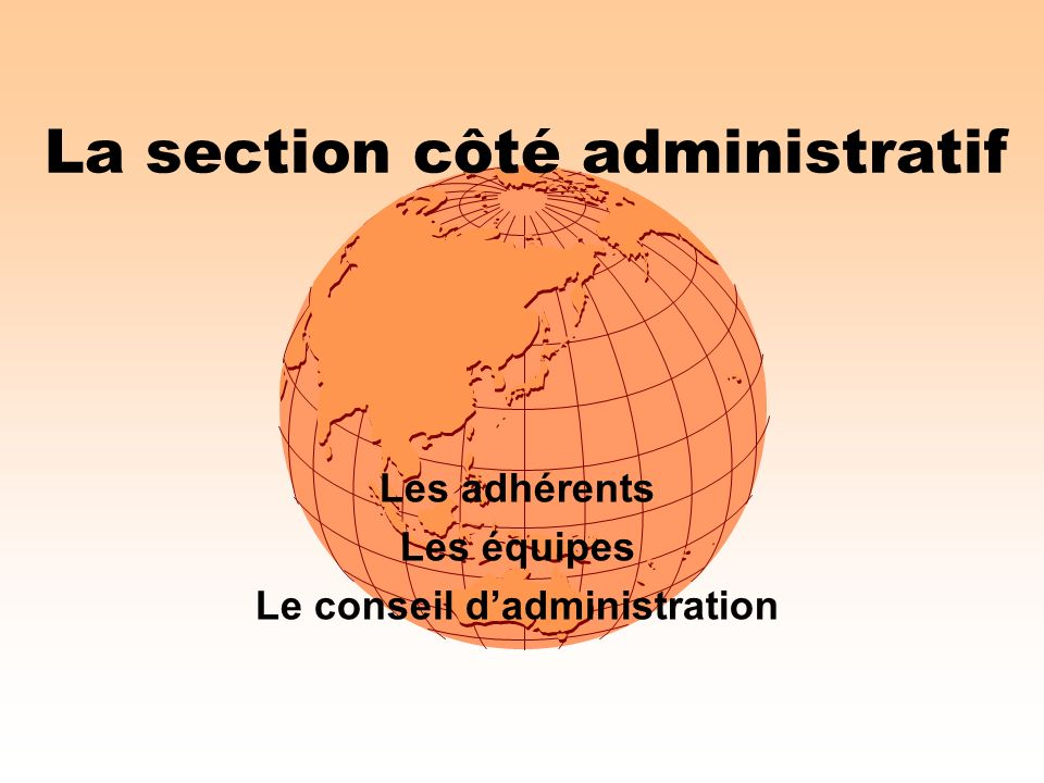 La section côté administratif