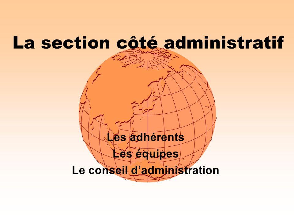 La section côté administratif