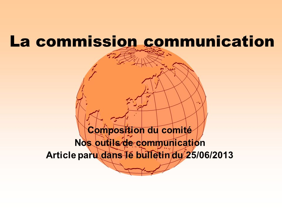 La commission communication