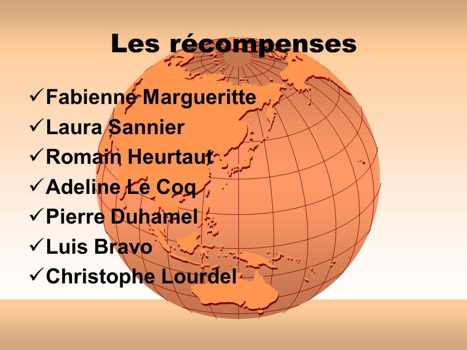 Les récompenses Fabienne Margueritte Laura Sannier Romain Heurtaut