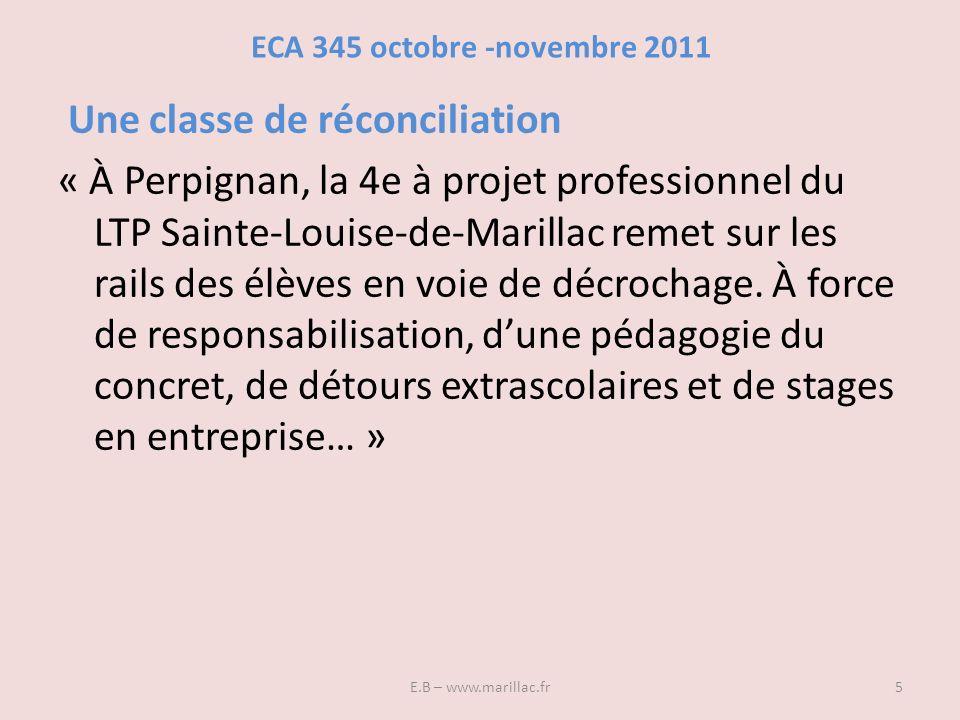 ECA 345 octobre -novembre 2011