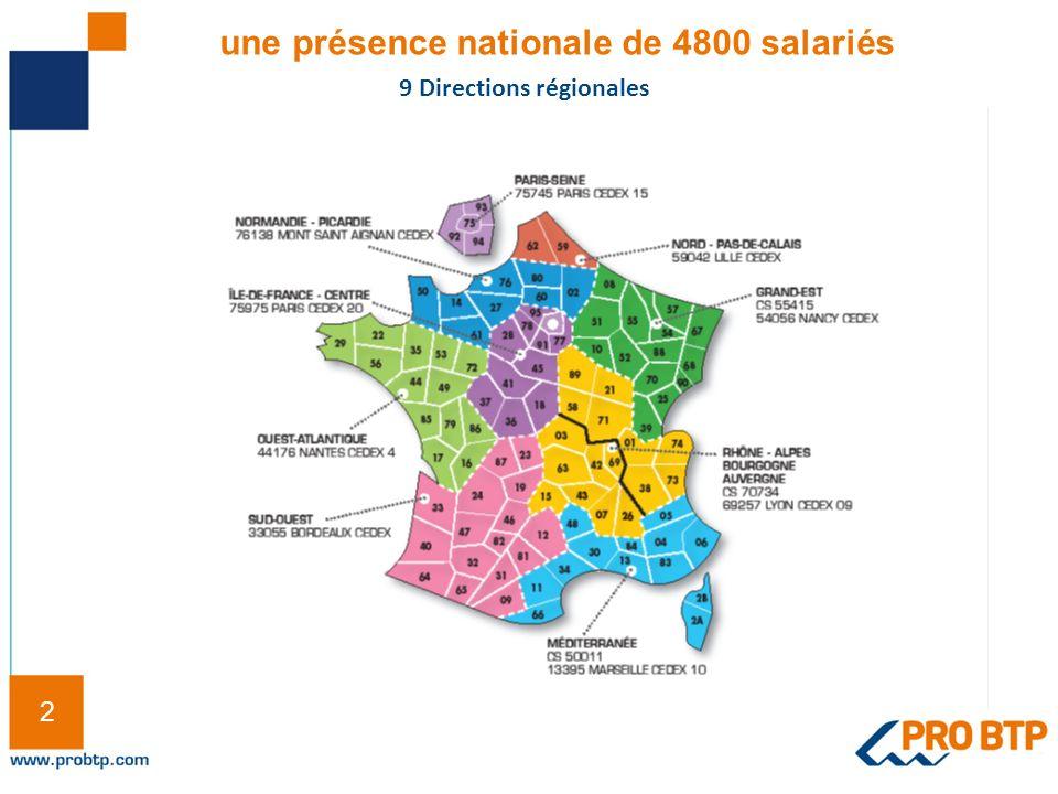 une présence nationale de 4800 salariés