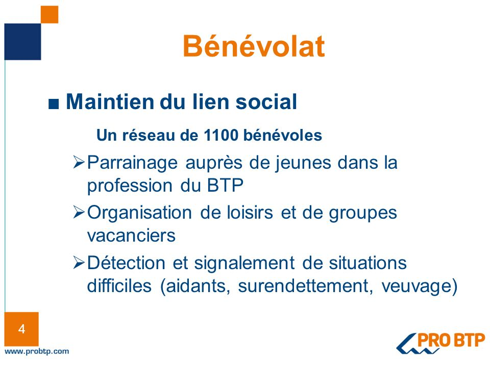 Bénévolat Maintien du lien social Un réseau de 1100 bénévoles