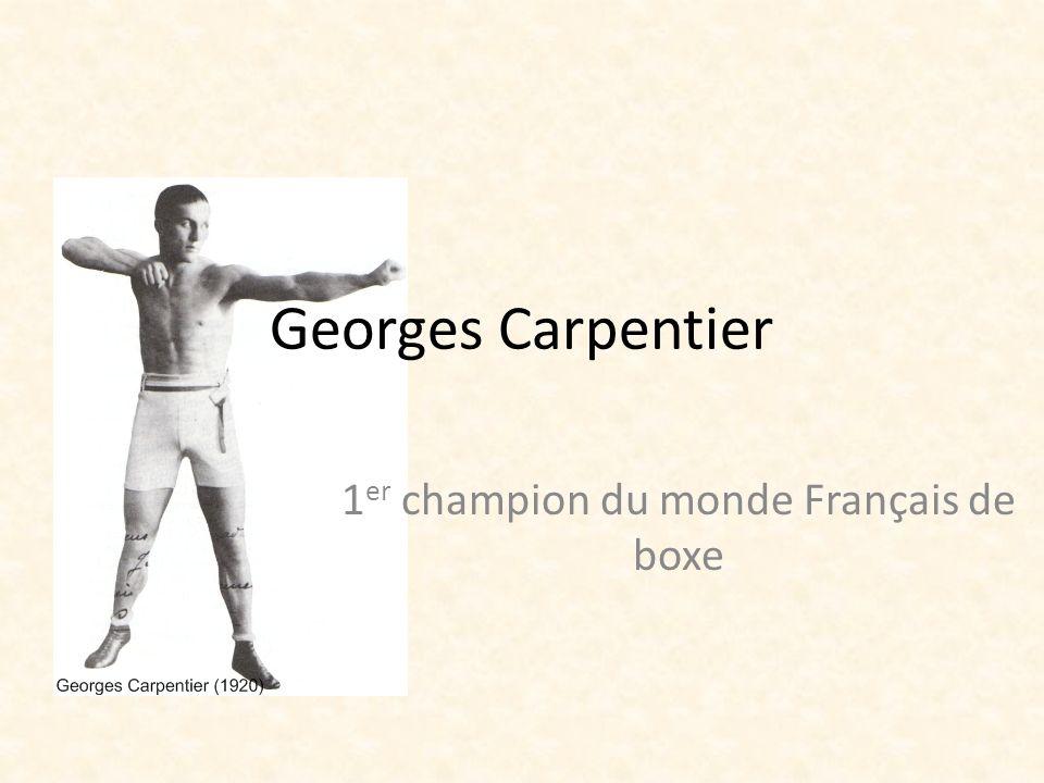 1er champion du monde Français de boxe