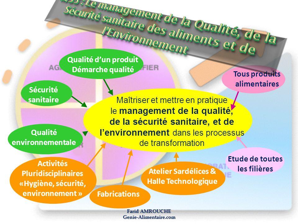 M55 : Le management de la Qualité, de la Sécurité sanitaire des aliments et de l'Environnement