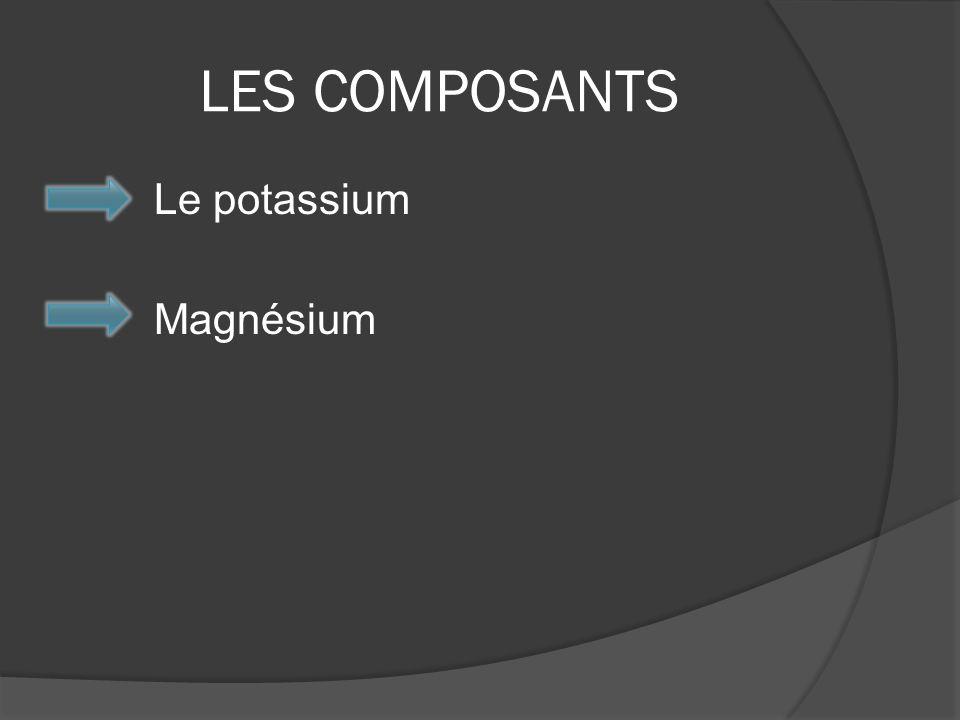 LES COMPOSANTS Le potassium Magnésium