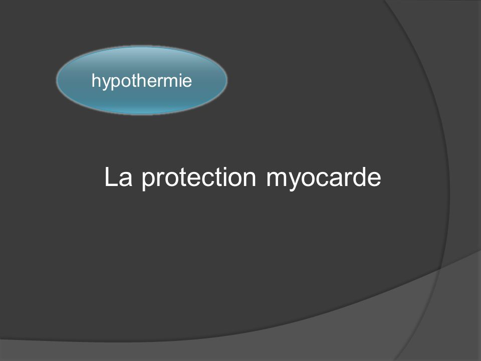 La protection myocarde