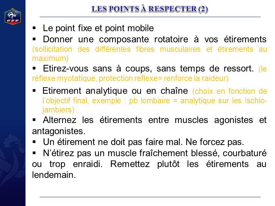 LES POINTS À RESPECTER (2)