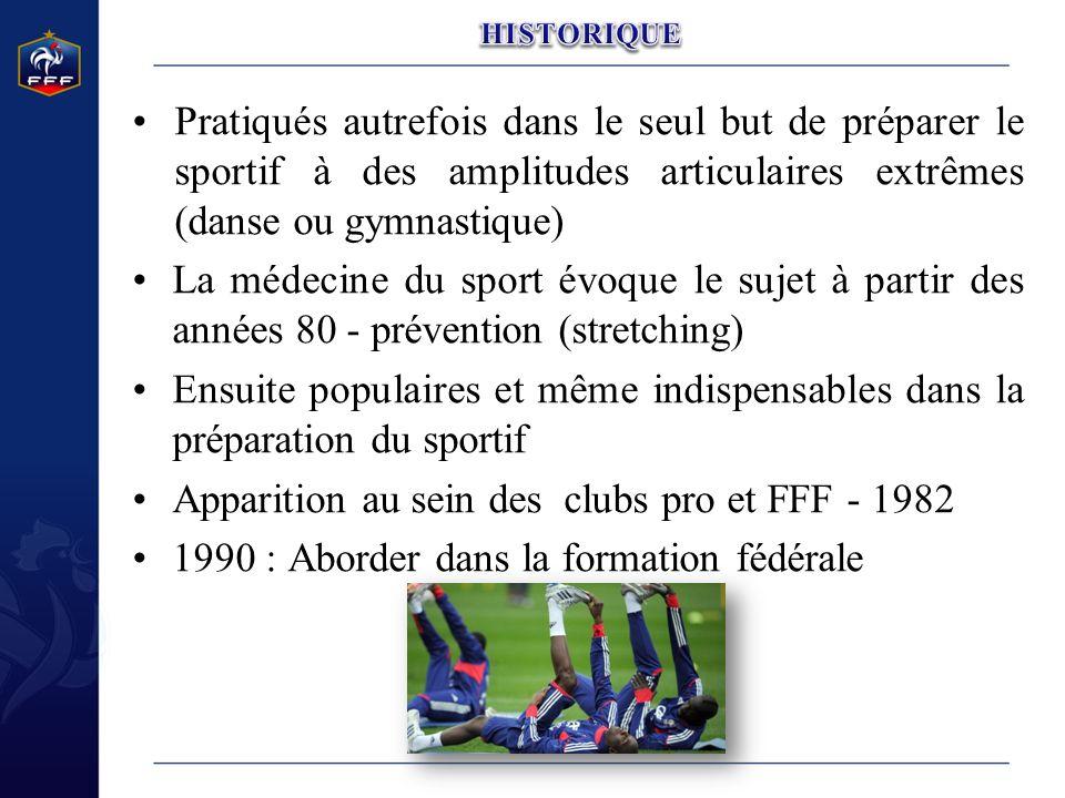 Apparition au sein des clubs pro et FFF - 1982