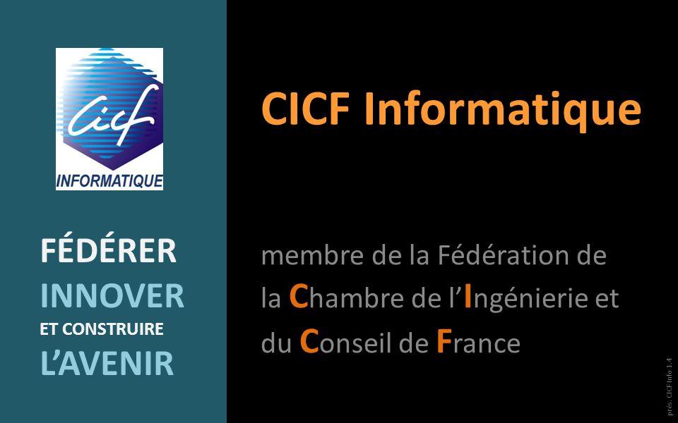 CICF Informatique FéDéRER INNOVER L'AVENIR
