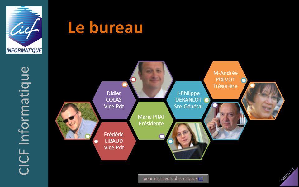 Le bureau CICF Informatique Frédéric LIBAUD Vice-Pdt