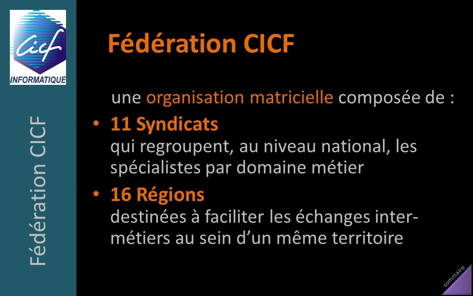 Fédération CICF Fédération CICF