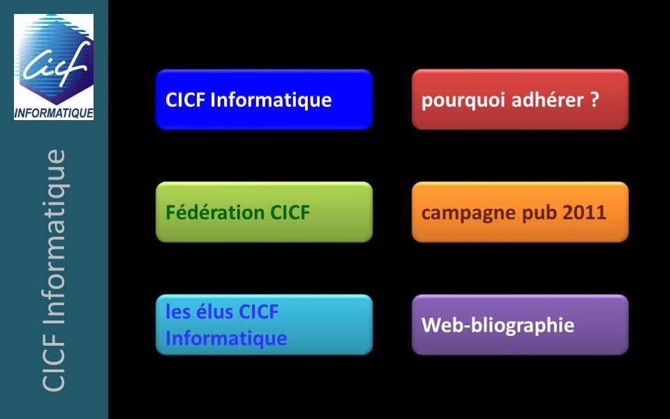 CICF Informatique CICF Informatique pourquoi adhérer Fédération CICF