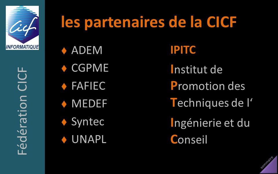 les partenaires de la CICF