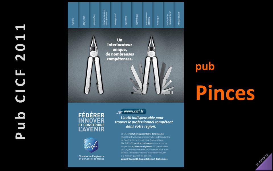 Pub CICF 2011 pub Pinces